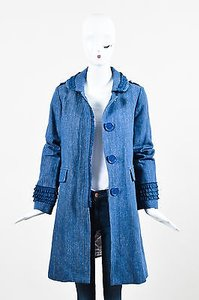 Marc Jacobs Denim Ruffle Coat