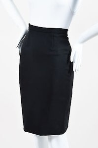 Valentino Stretch Knit Skirt Black