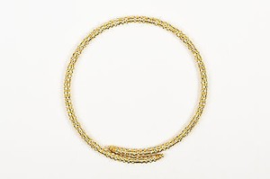Francoise Montague Gold Plated Swarovski Crystal Mabrouk Coil Wrap Necklace