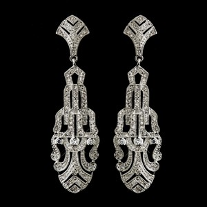 Elegance By Carbonneau Art Deco Great Gatsby Cz Wedding Earrings