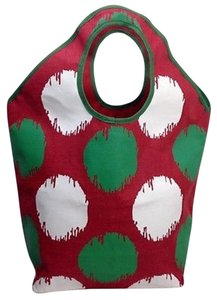 Mudd Mud Pie Christmas Style Red Tote in Multi-Color