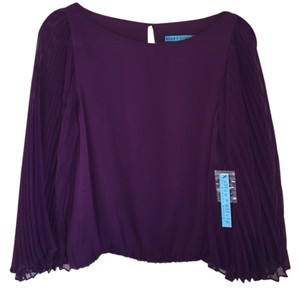 Alice + Olivia Bat Wing Sleeves Top Plum