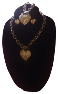 Traci Lynn Brilliance Toggle Necklace set