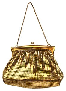 Whiting & Davis Mesh Beaded Vintage Wristlet in Gold