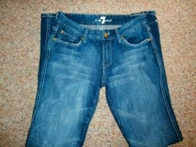 7 For All Mankind Size 26 Perfect Condition Boot Cut Jeans-Distressed