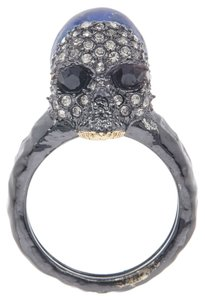 Alexis Bittar NEW Encrusted Skull Cocktail Ring w/Lapis Stone, Large, BC53R0058