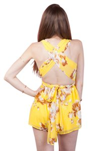 Luxxel Infinity Multi Way Floral Plunge Print Dress