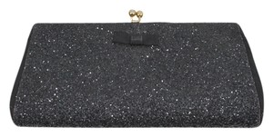 Evening Glittery Black Clutch