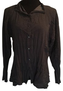 Babette Button Down Shirt Charcoal