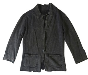 Elizabeth and James Casual Soft Comfortable Pockets Charcoal Dark Gray Blazer