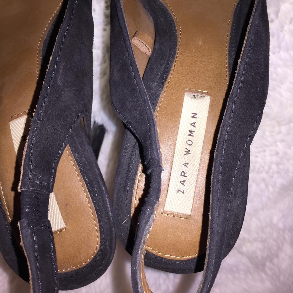 8842df493340b Zara Black with Crystal Stone High He ll Party Platforms Size US 9 ...