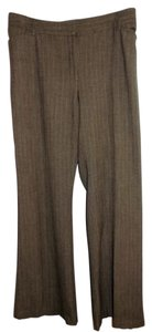 Apostrophe Slacks Brown Large Wide Leg Pants Tweed