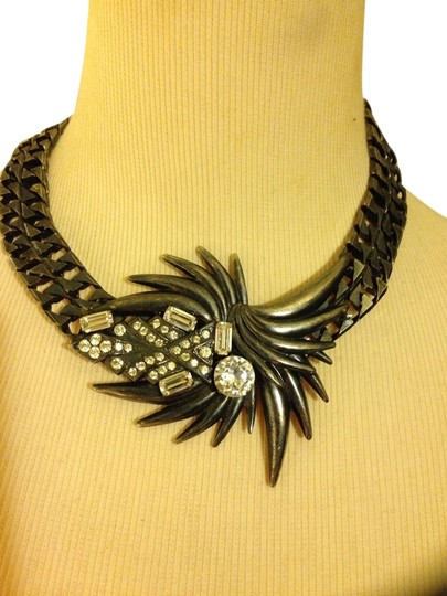 Preload https://item5.tradesy.com/images/grey-vintage-spiked-necklace-1453509-0-0.jpg?width=440&height=440