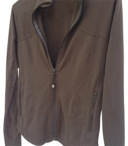 Lululemon Fitted Brown Jacket with Subtle Red Stitching