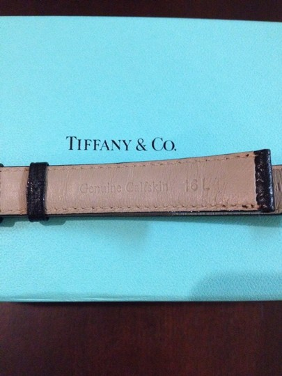 Tiffany & Co. Tiffany Black Calfskin Watch Band
