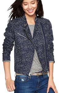 Gap Tweed Tweed Moto Motorcycle Jacket