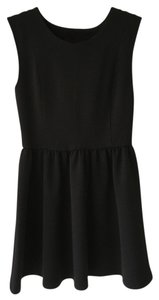 Nordstrom short dress Black Mini Fit And Flare on Tradesy