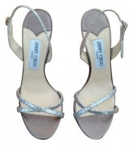 Jimmy Choo Sparkly silver Formal