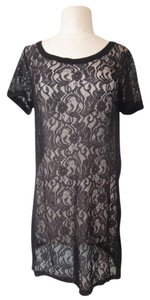 Ginger G Lace Tunic Top Black