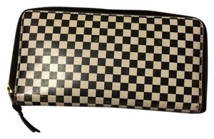 COMME des GARÇONS Checkered Zip Around Wallet