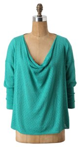 Anthropologie Pointelle Guinevere Top Turquoise