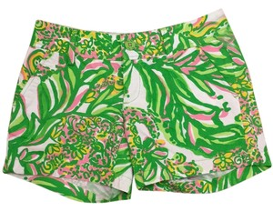 Lilly Pulitzer Mini/Short Shorts Seeing Pink Elephants
