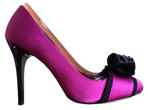 Nina Shoes Dressy Statement Fuchsia/Black Pumps