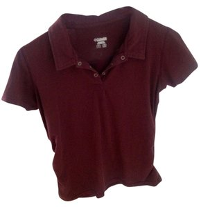 Columbia Sporty Stretchy Casual T Shirt Maroon