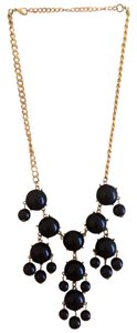 Black & Gold Bauble Statement Necklace