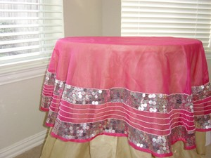 Table Cloth With Silver Paillets