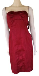 Antonio Melani Satin Strapless Boned Dress