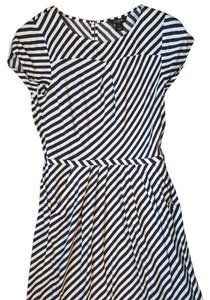 J.Crew short dress Blue; White on Tradesy