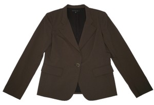 Lafayette 148 New York Wool Classic Brown Blazer