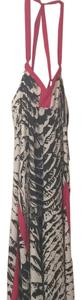 Black, white, red trim Maxi Dress by Express