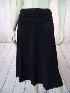 Other Fylo By Nylon Slinky Knit Poly Spandex Stretch Comfy Sassy Skirt Black