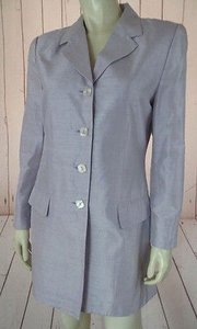 Nic York Blazer Palest Lavender Slub Silk Lightweight Longer Style Chic