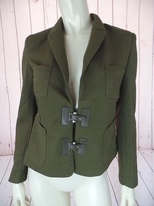 Other Escalier Blazer 8uk Army Green Textured Poly Stretch Blend Unique Chic