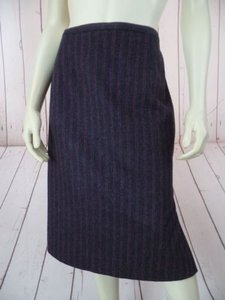 Dana Buchman Straight Skirt Gray Heather & Wine
