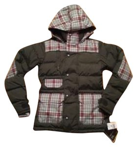 Burton Plaid Green Puffy Coat