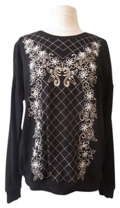Forever 21 Embroidered Beaded Active Sweatshirt