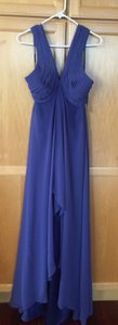 Badgley Mischka Wisteria (Periwinkle) Satin & Chiffon Collection Formal Bridesmaid/Mob Dress Size 10 (M)