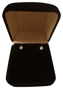 Diamond Stud Earrings 14K Solid White Gold Diamond Stud Earrings (1/4 ct. t.w.)