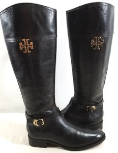 Tory Burch Riding Leather Dark Brown Boots