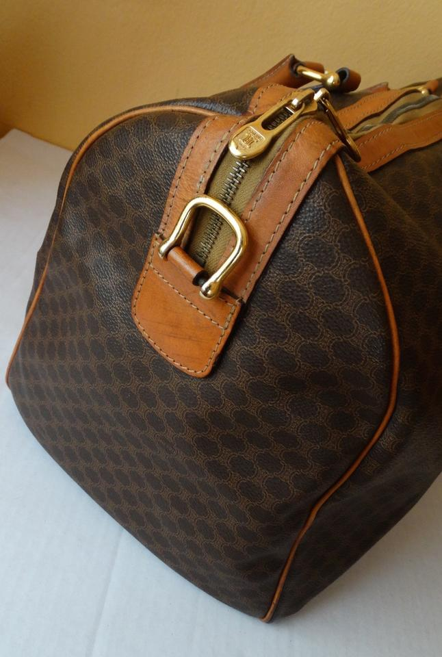 bag celine - C��line Macadam Monogram Boston Brown Travel Bag | Weekend/Travel ...