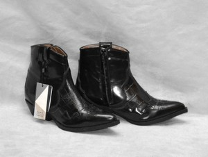 Zara Trafaluc Leather Black Boots