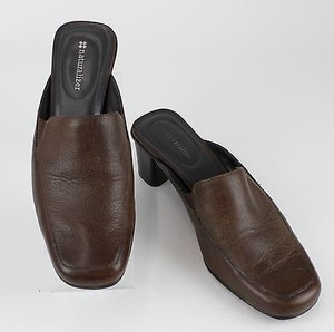 Naturalizer Leather Brown Mules