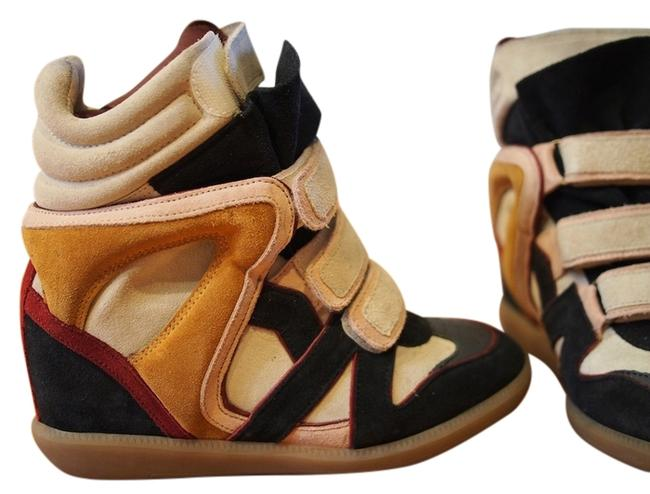 Item - Pink and Black Multicolor Sneakers Wedges Size US 7.5 Regular (M, B)
