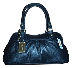 Pelle Studio New Genuine Leather Leopard Print Tags Attached Pebbled Wilsons Leather Satchel in Black