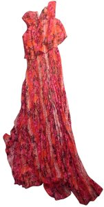 Pink python Maxi Dress by Calvin Klein Floor Length