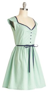 Modcloth short dress Light Green w/ Navy Trim on Tradesy